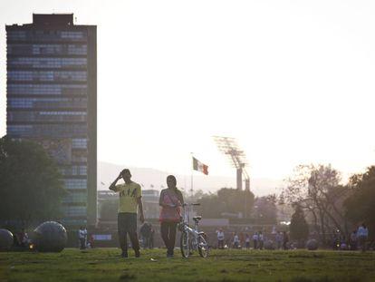 The UNAM campus in Mexico City.