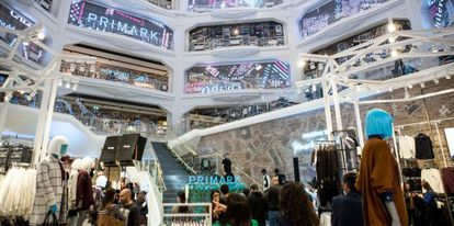The new Primark store on Madrid's Gran Vía.