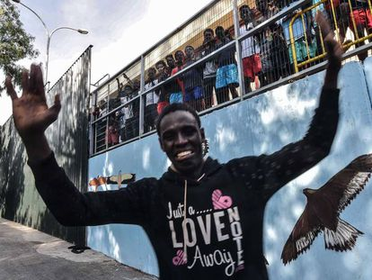 One of the 119 Sub-Saharan Africans who jumped the Ceuta border fence on Wednesday.