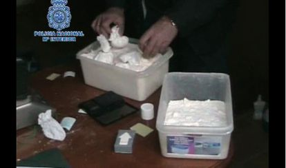 Cocaine seized in 2012 in Murcia under the supervision of the police chief now under arrest.