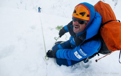 The climbers during the rescue.