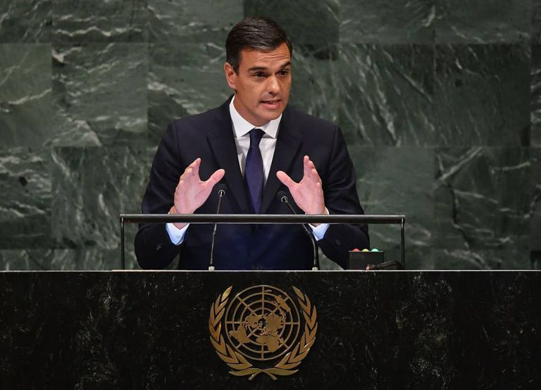 Pedro Sánchez at the United Nations General Assembly.