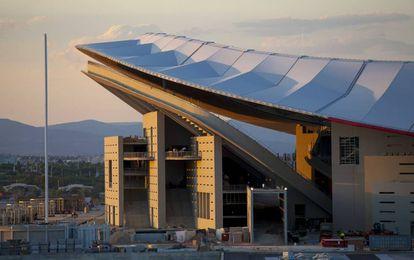 The new Atlético Madrid stadium designed by the Cruz y Ortiz architect studio.