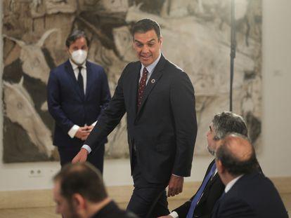 Spanish PM Pedro Sánchez at the presentation of the tourism plan on Thursday.