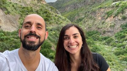 Carlos Jonay Sánchez and Elsa Rodríguez, the entrepreneurs behind the initiative Pueblos Remotos, in Icod de los Vinos in Tenerife.