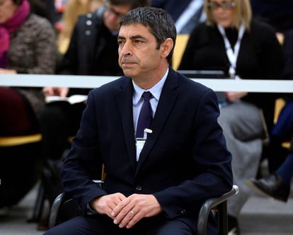 Former Mossos chief Josep Lluís Trapero on Day One of the trial.