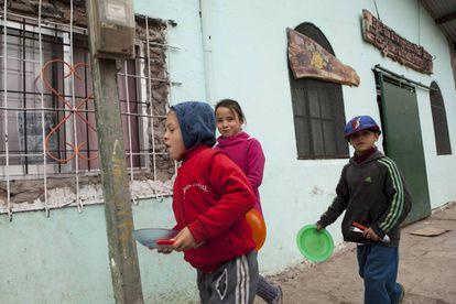 Children in Florencio Varela, right outside Buenos Aires.