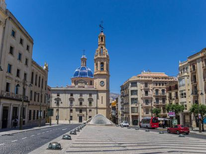 Alcoy in Alicante, where the lack of work opportunities has forced many young people to leave.