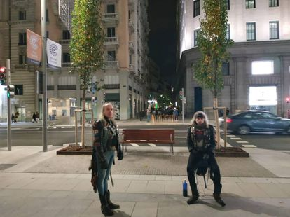 """The Heavies"" twin brothers on Gran Vía."