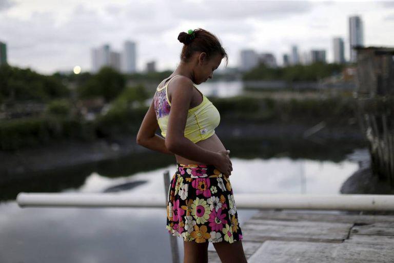 A pregnant woman in Recife, Brazil.