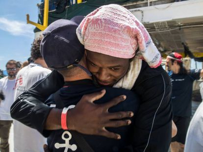 The Aquarius and two accompanying ships arrived in Valencia on Sunday.