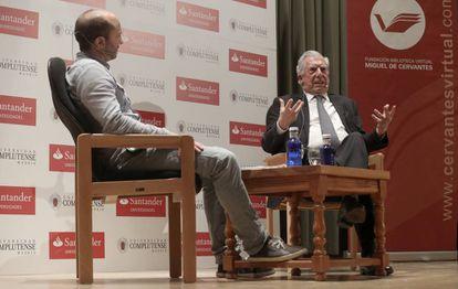 Mario Vargas Llosa right, on Thursday in El Escorial, near Madrid.