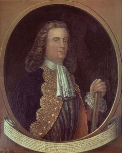 Blas de Lezo, as portrayed in a painting at Madrid's Naval Museum.
