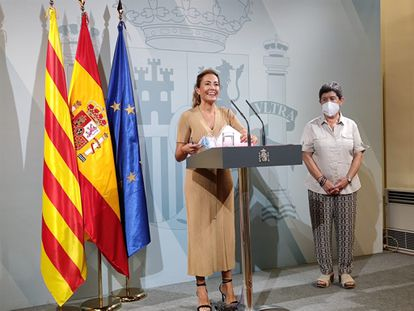 Transportation Minister Raquel Sánchez pictured in Barcelona on Wednesday.