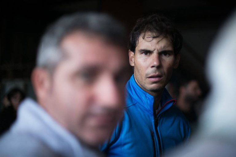 Rafael Nadal during the clean-up operation in Sant Llorenç earlier this year.