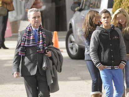 José Ortega Cano (left) and his son, José Fernando Ortega.