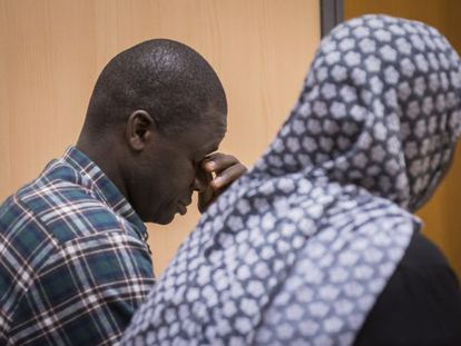 Sekou Tutay and Binta Sankano, pictured during their trial.