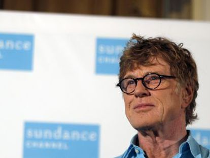 Robert Redford in Madrid to promote the Sundance Channel