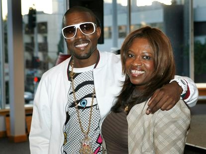 Kanye West and his mother Donda West in May 2007, months before she died.
