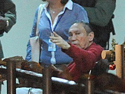 Noriega is taken to a Panamanian prison in December 2011.