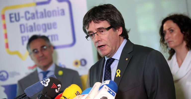Ousted Catalan leader Carles Puigdemont is in Germany.