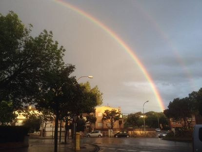 A rainbow in Madrid earlier this month.