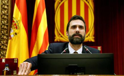 Catalan parliamentary speaker Roger Torrent.
