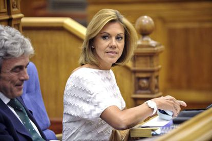 PP Secretary General María Dolores de Cospedal wants to create a coalition against Catalan secessionists.