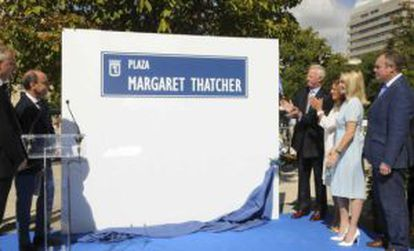 The PP inaugurated Margaret Thatcher Square in Madrid in September 2014.