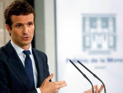 PP leader Pablo Casado.