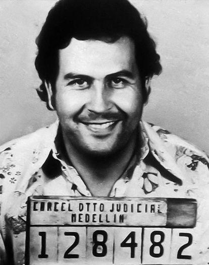 Police photo of Pablo Escobar.