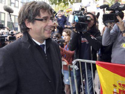 Ex-Catalan premier Carles Puigdemont in Brussels.