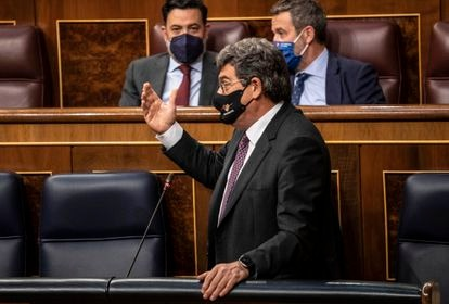 Social Security Minister José Luis Escrivá in parliament on Wednesday.