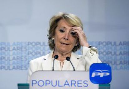 Esperanza Aguirre insists that her Popular Party won the most votes in Madrid but admits that Madrileños have sent them a warning message.