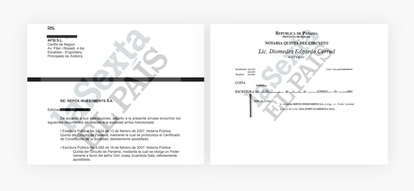 The document with the name of Guardiola and that informed an Andorran firm that the documentation had been sent. EL PAÍS / LA SEXTA / ICIJ