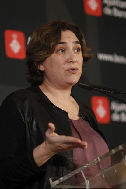 Barcelona's Mayor Ada Colau.