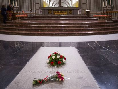 Francisco Franco's tomb in the Valley of the Fallen.