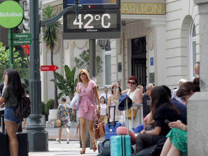 Sweltering temperatures in Bilbao.