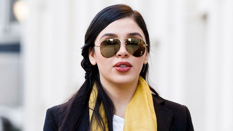 Emma Coronel outside the United States district court in New York.