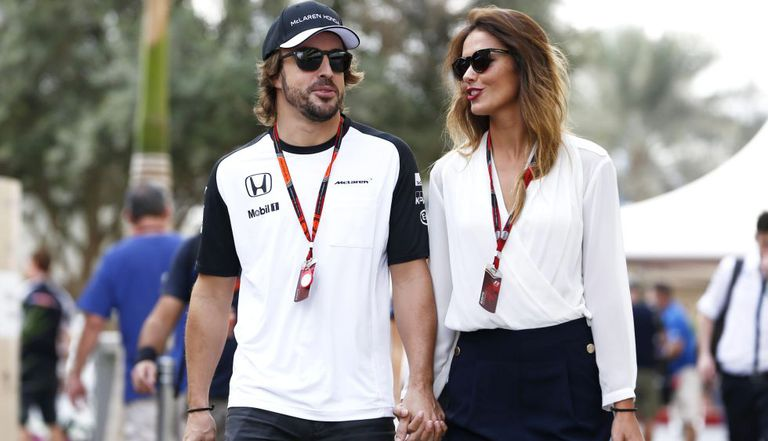 Fernando Alonso and Lara Álvarez.
