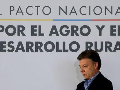Colombia's president, Juan Manuel Santos.