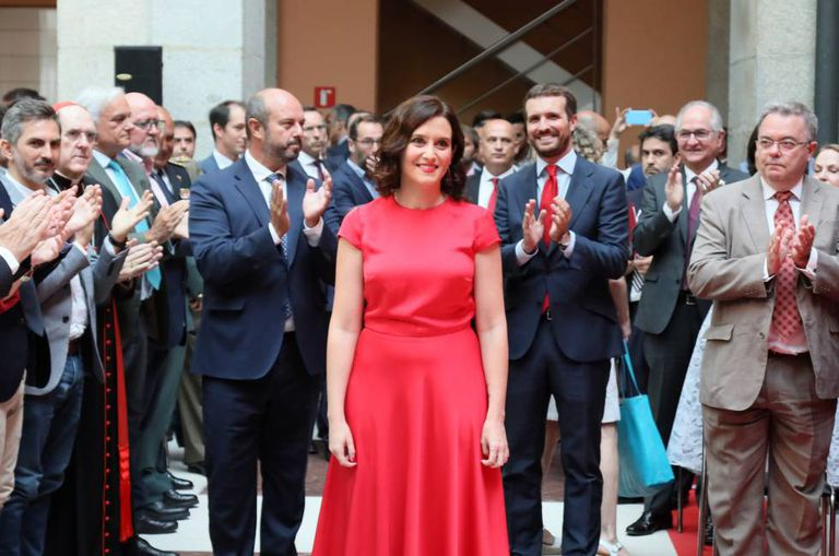 Isabel Diaz Ayuso before taking office as leader of the Madrid region in August.