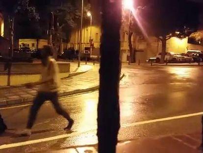 Migrants entering Ceuta in video filmed by Reduan Mohammed.