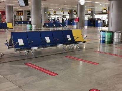 Fuerteventura airport in Spain's Canary Islands on September 30.