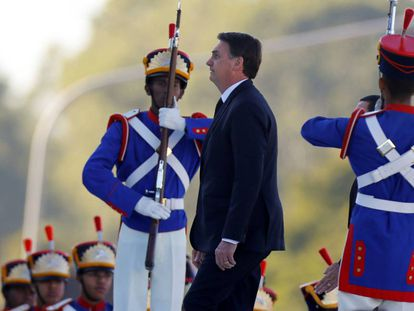 Brazilian President Jair Bolsonaro in a file photo taken in Brasilia.