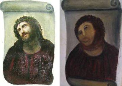 The notorious 'Ecce Homo' restoration.