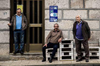 Residents of O Irixo in Galicia in February 2020.
