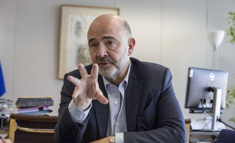 Pierre Moscovici, the EU finance commissioner.