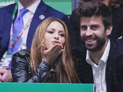 Shakira and Gerard Piqué in a file photo from 2019.