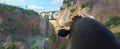 A still shot from 'Ferdinand' showing the bridge in Ronda.